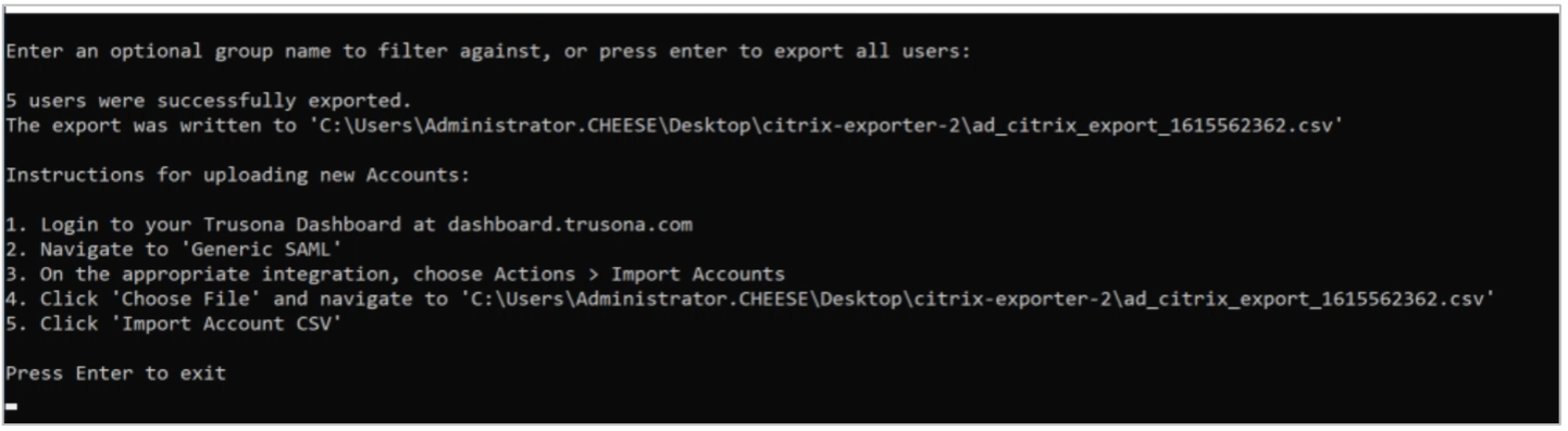 Querying Active Directory and generating a CSV