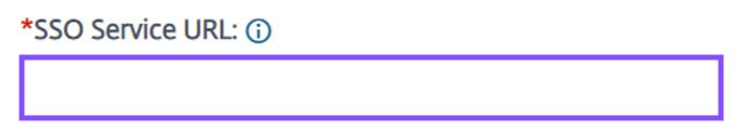 Enter the SSO service url value