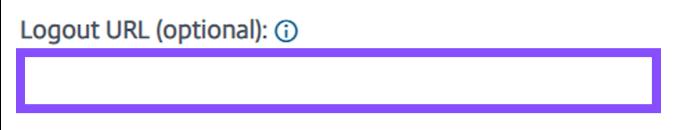Enter the Logout URL. It should match your IdP Metadata