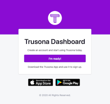Log into the Trusona dashboard