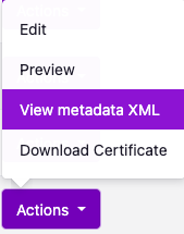 VView metadata XML