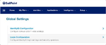 Click on Login Configuration