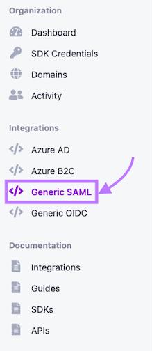 Generic SAML