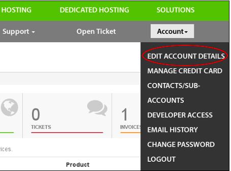 Edit Account Details