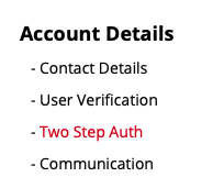 Access 'Account Details'