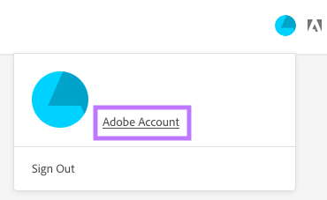 Access your Adobe Account