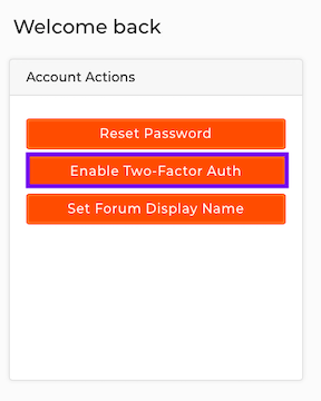 Click to Enable Two-Factor Auth