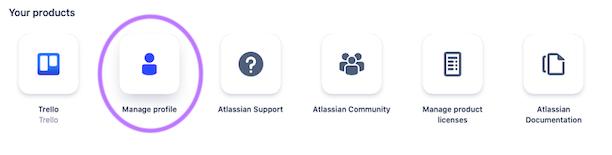 Select Manage Profile