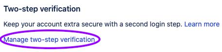 Manage 2-step verification