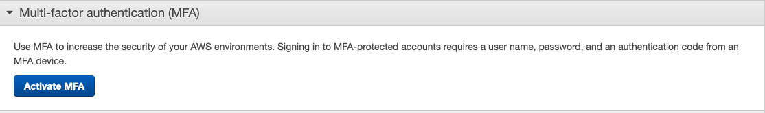 Select MFA