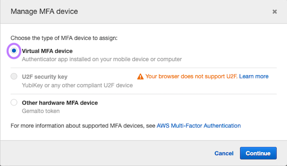 Virtual MFA Device