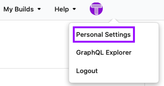 Click on Personal Settings