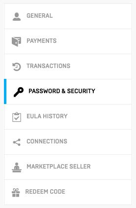 Go to Password & Security