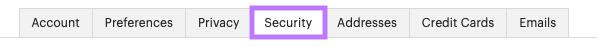 Security tab