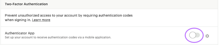 Toggle Authentication App