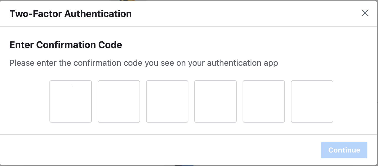 Entering the code