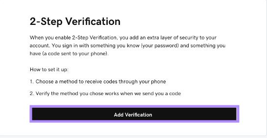 Click on Login & Security