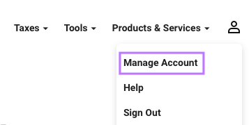 Click on Manage Account