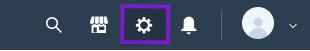 Click on cog icon