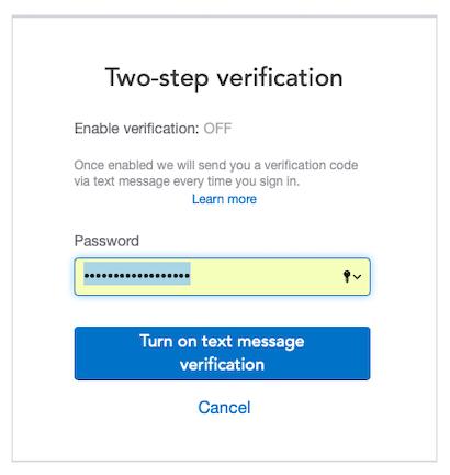 Re-enter your account password