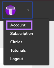 Select the Account option