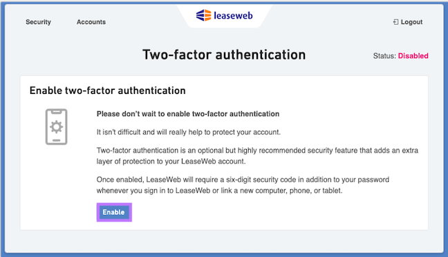 Navigate to authentication settings