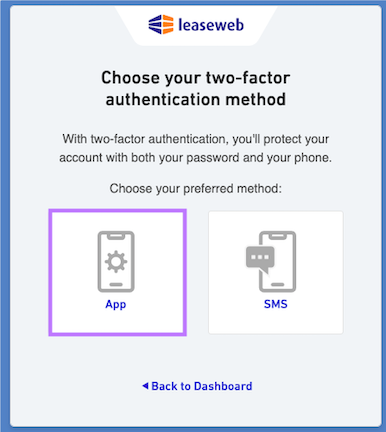 Select an authentication method