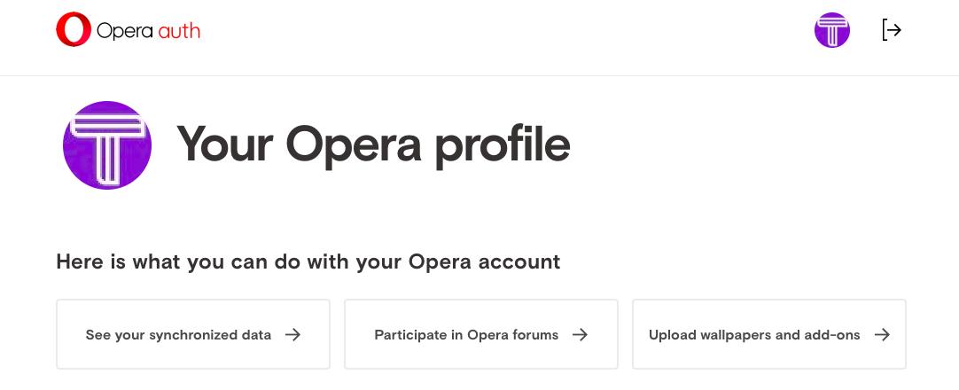 Opera Account