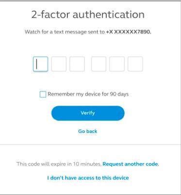 Select a verification method