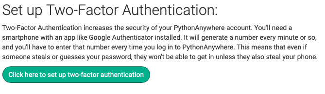 Click on Two-Factor Authentication