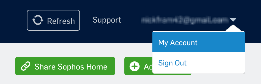 Select 'My Account'