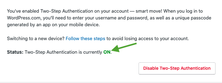 Enable Two-Factor Authentication